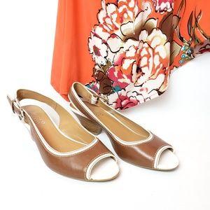 Franco Sarto peep toe slingback shoes, 8